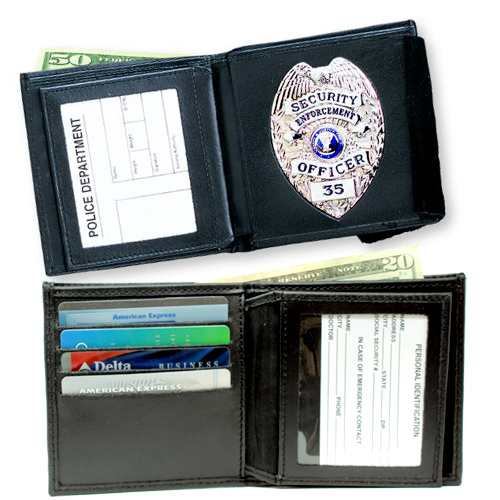 Double Id Badge Wallet Dress Strong Badge Case