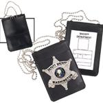 Non-Recessed Magnetic Badge and ID Holder with Chain