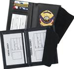 Double ID Badge Cases with Credit Card Slots and License Window